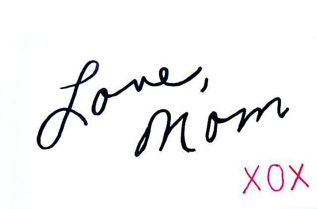 Love-Mom {transferring handwriting to a plate}