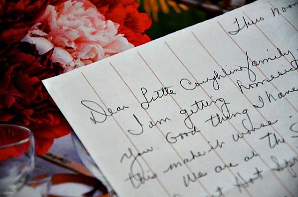 Handwritten letters ...