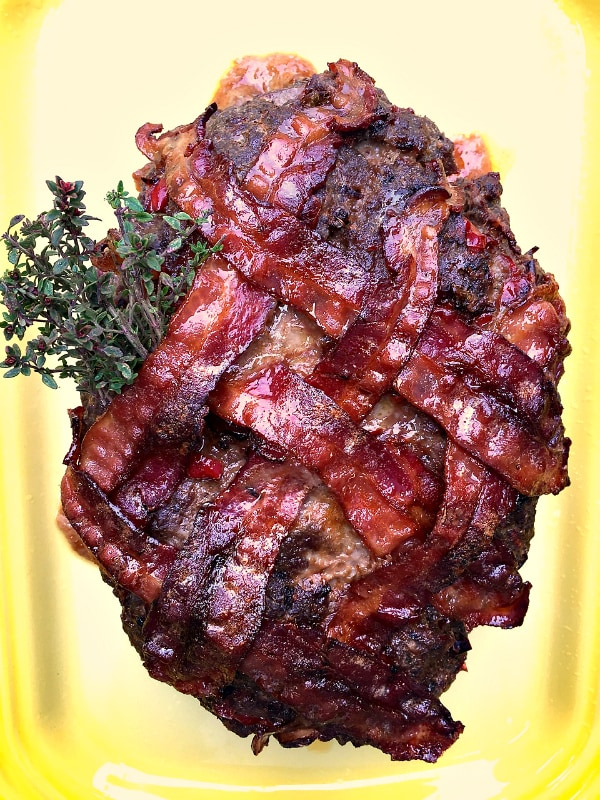 Bacon-Wrapped Meat Loaf Recipe