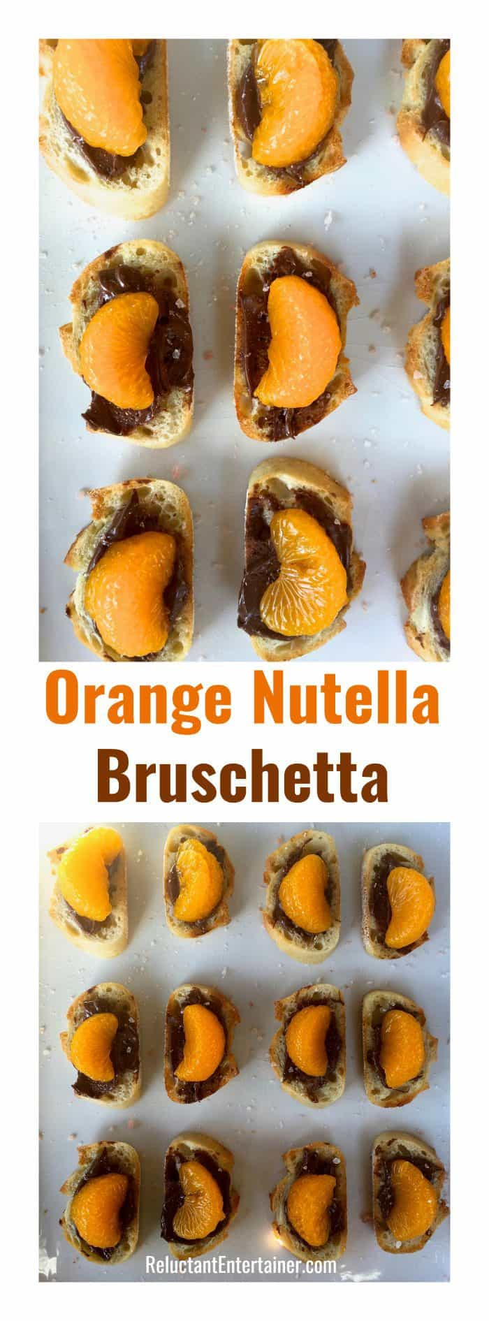 Orange Nutella Bruschetta
