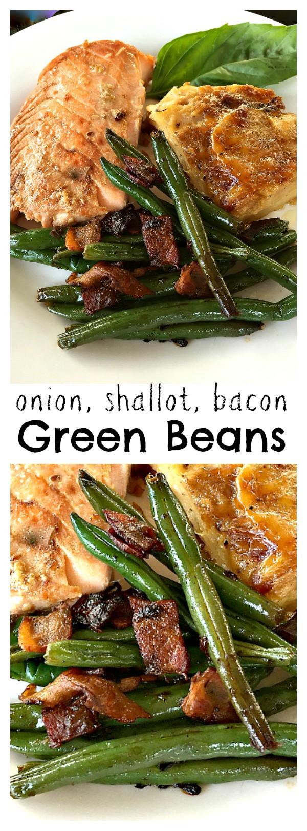 Onion Shallot Bacon Green Bean Recipe