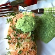 Lemon Dill Salmon with Cucumber Herb Sauce