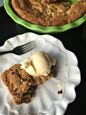 Crustless Gluten-Free Chocolate Chip Pie