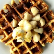 Buttermilk Waffles with Pear Compote