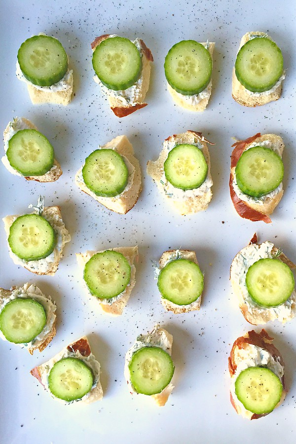 Lemony Cucumber Cream Cheese Bites