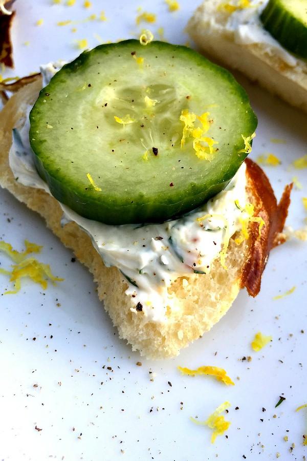 Lemony Cucumber Cream Cheese Bites