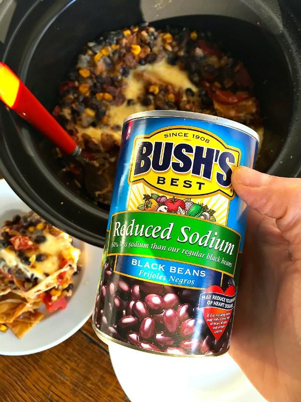 Bush's Black Bean Crock Pot Lasagna