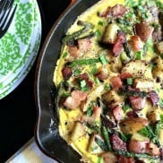 Bacon Asparagus Potato Frittata