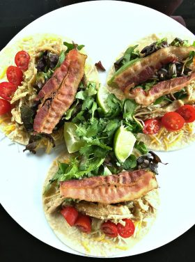 Bacon Shredded Pork Tacos