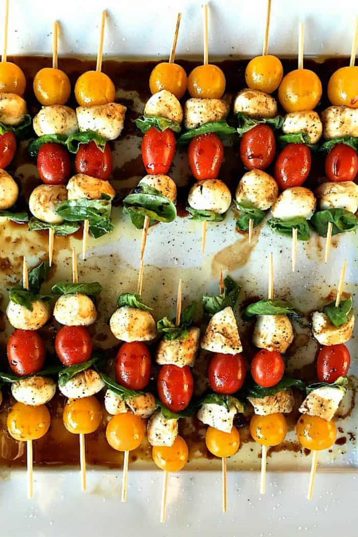 Mini Caprese Skewers Appetizer
