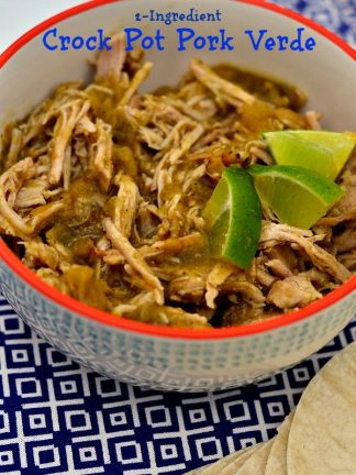 2-Ingredient Crock Pot Pork Verde