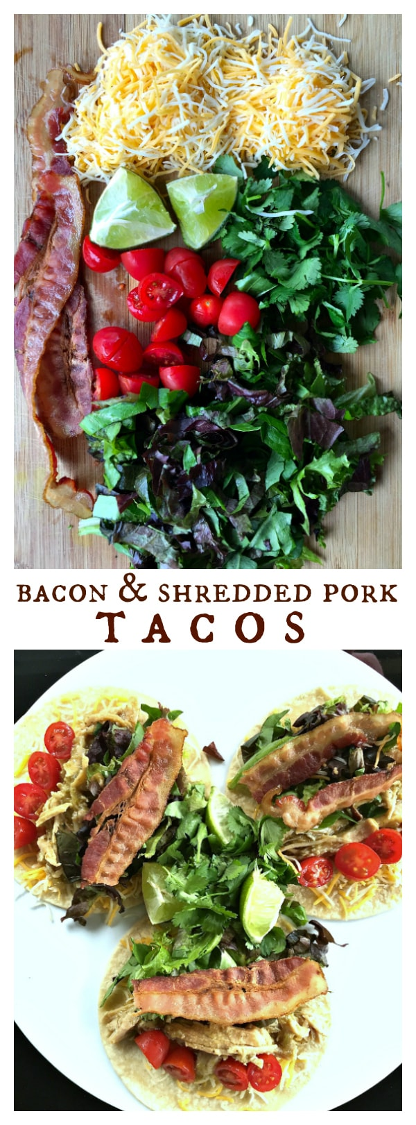 Bacon & Shredded Pork Tacos