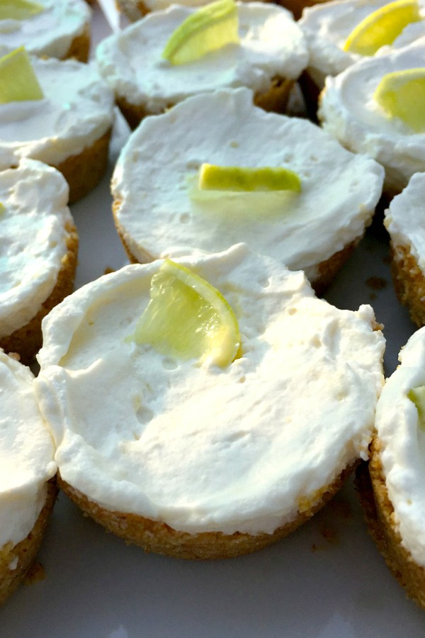 Mini Margarita Cheesecakes | ReluctantEntertainer.com
