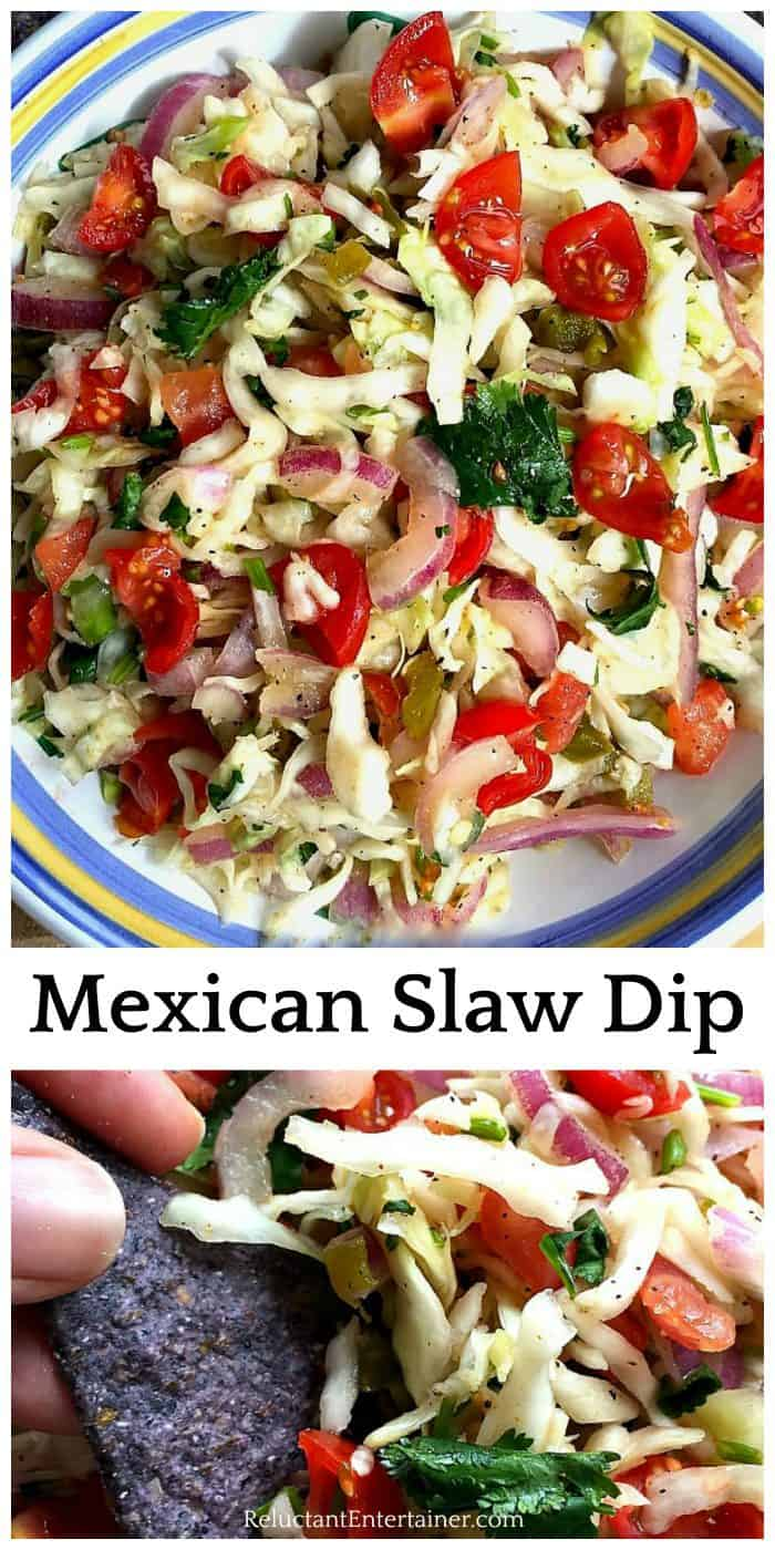 BEST Mexican Slaw Dip Recipe (or salad)