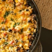 Chicken Black Bean Skillet Dip | ReluctantEntertainer