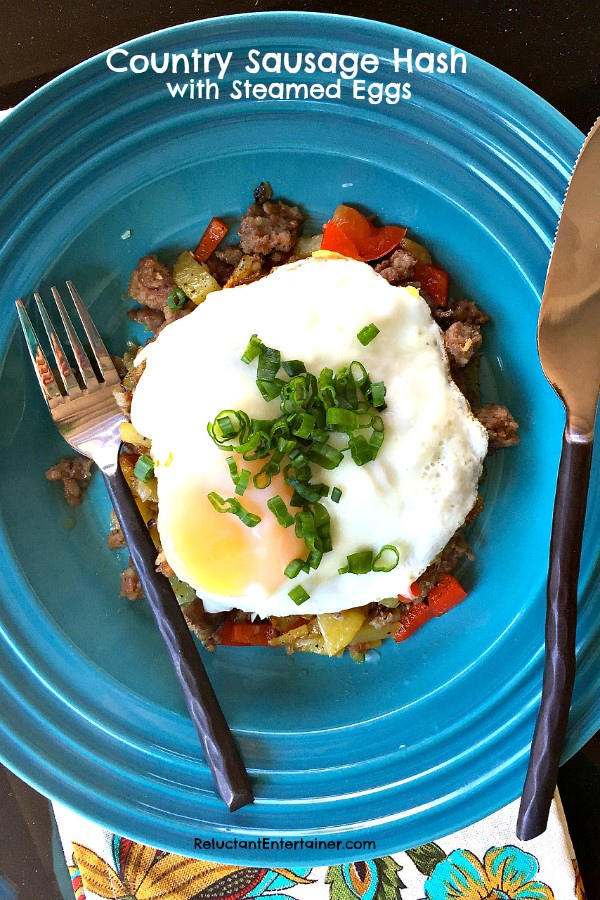 Country Sausage Hash with Steamed Eggs