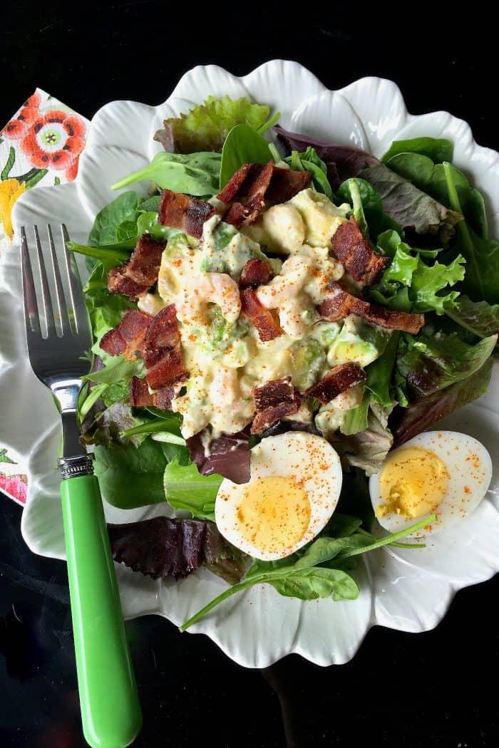 Green Salad with Shrimp and Avocado Recipe
