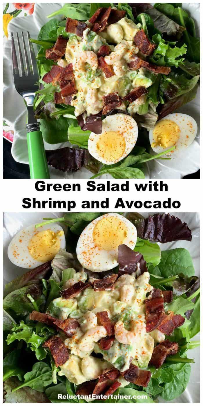 Best Green Salad with Shrimp and Avocado Recipe