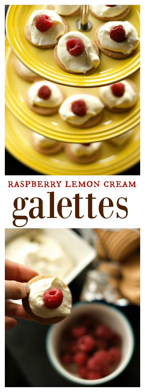 Raspberry Lemon Cream Galettes