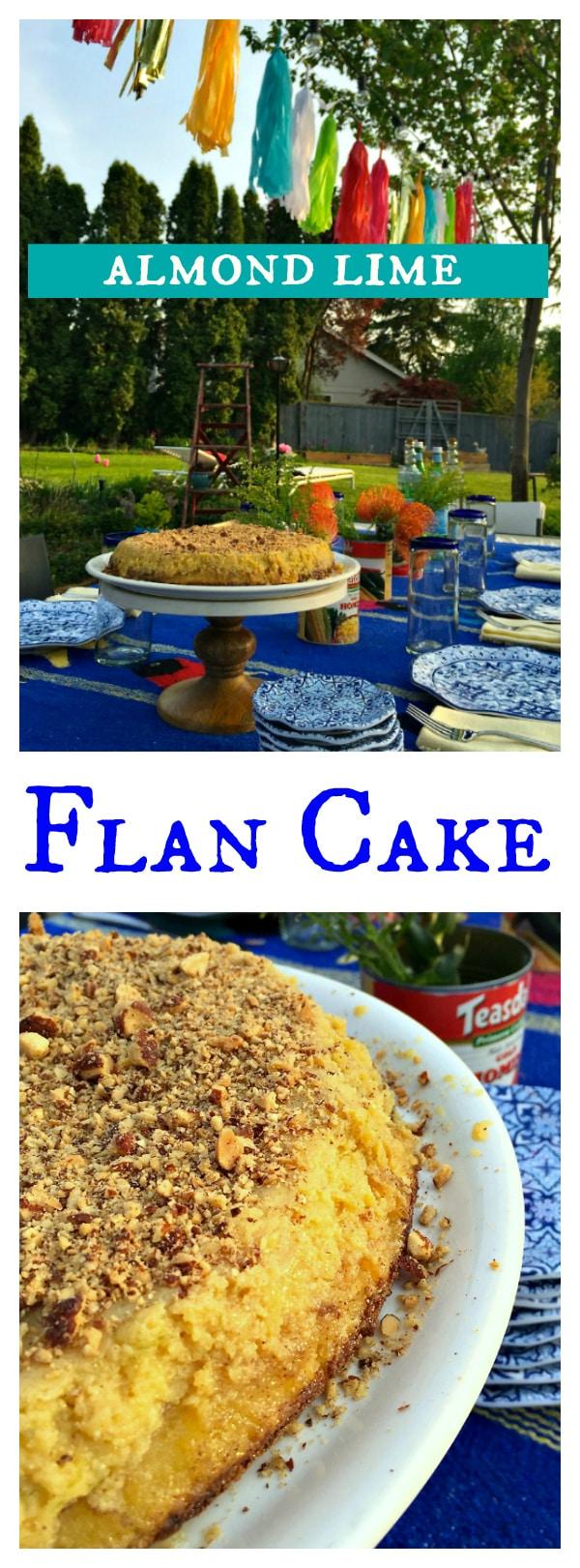 Almond Lime Flan Cake