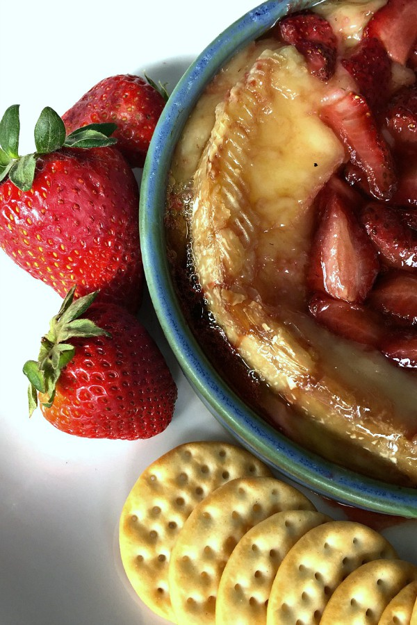 Roasted Strawberries Brie Appetizer | ReluctantEntertainer