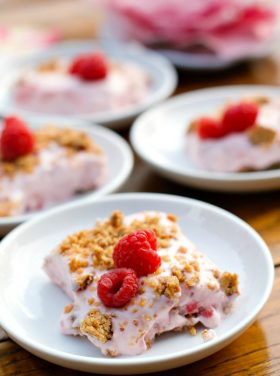 Frosty Almond Raspberry Squares