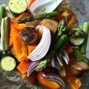 Vegetable Sausage Foil Pack Dinner