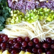 Curried Jicama Fruit Pasta Salad