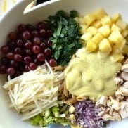 Curried Jimica Fruit Pasta Salad
