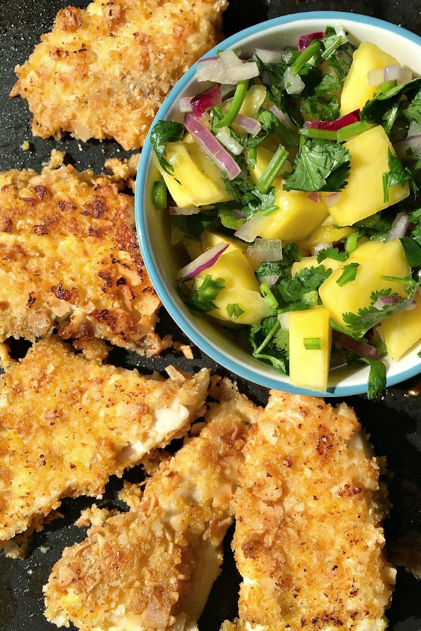 Coconut Crusted Tilapia Coconut Crusted Tilapia With