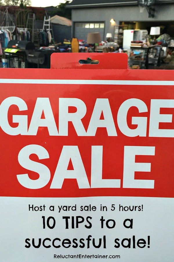 Host a Yard Sale in 5 Hours