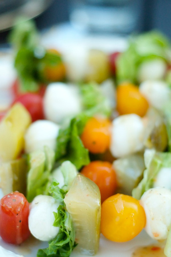 Pickle Caprese Salad Kebabs