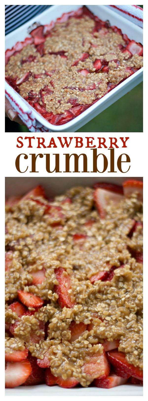Strawberry Crumble Dessert