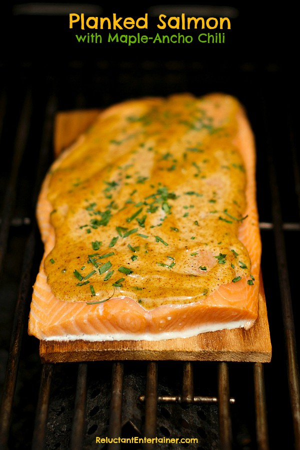 Planked Salmon with Maple-Ancho Chili