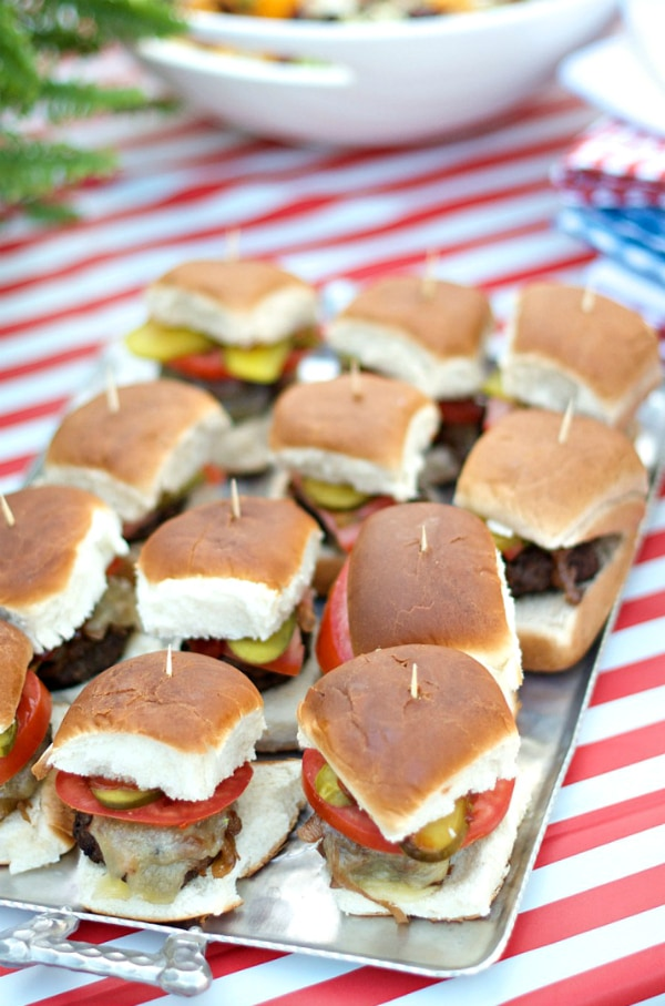 Mini Sliders with Caramelized Shallots
