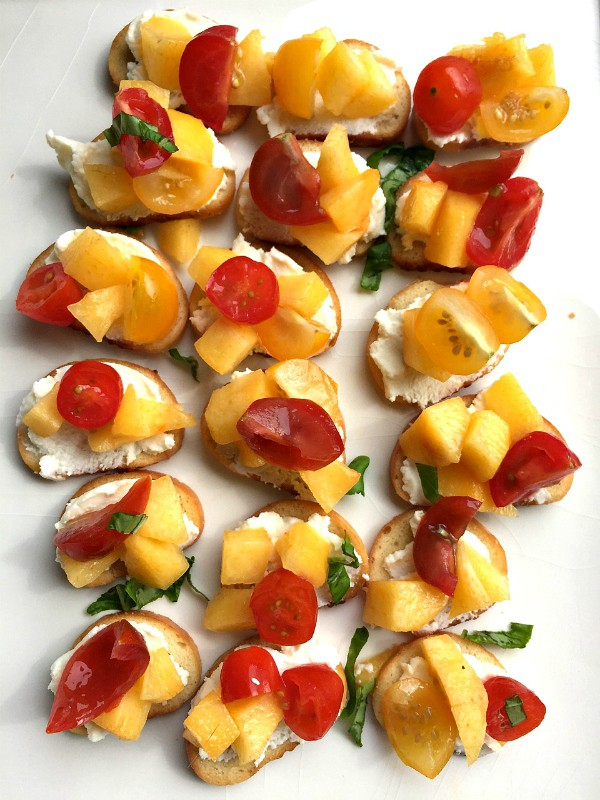 Peach Ricotta Crostini