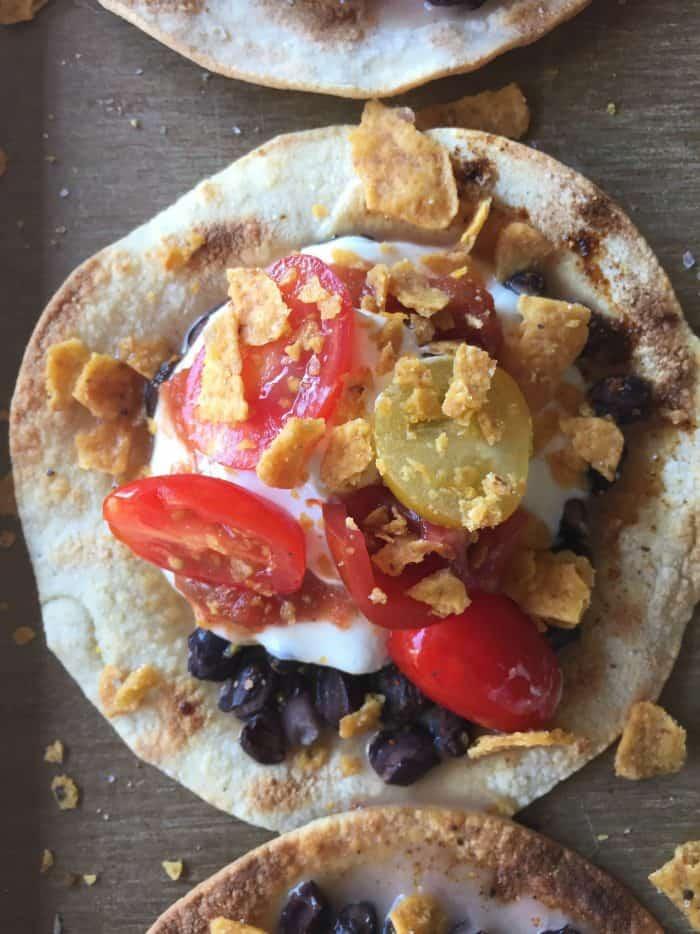 Baked Crunchy Black Bean Mozzarella Tacos