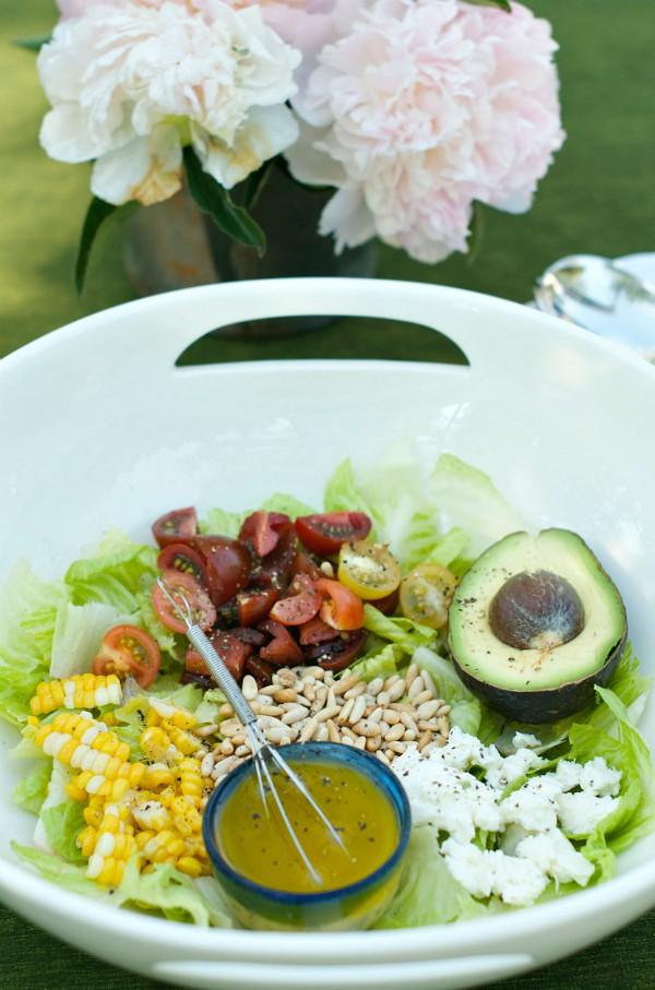 Avocado-Pine Nut Salad