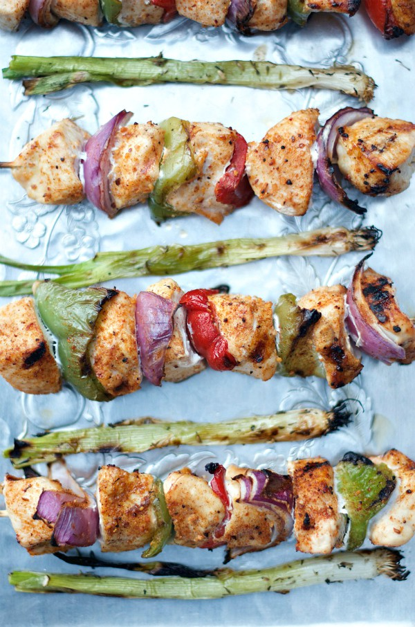 Barbecue Maple Chicken Kebabs