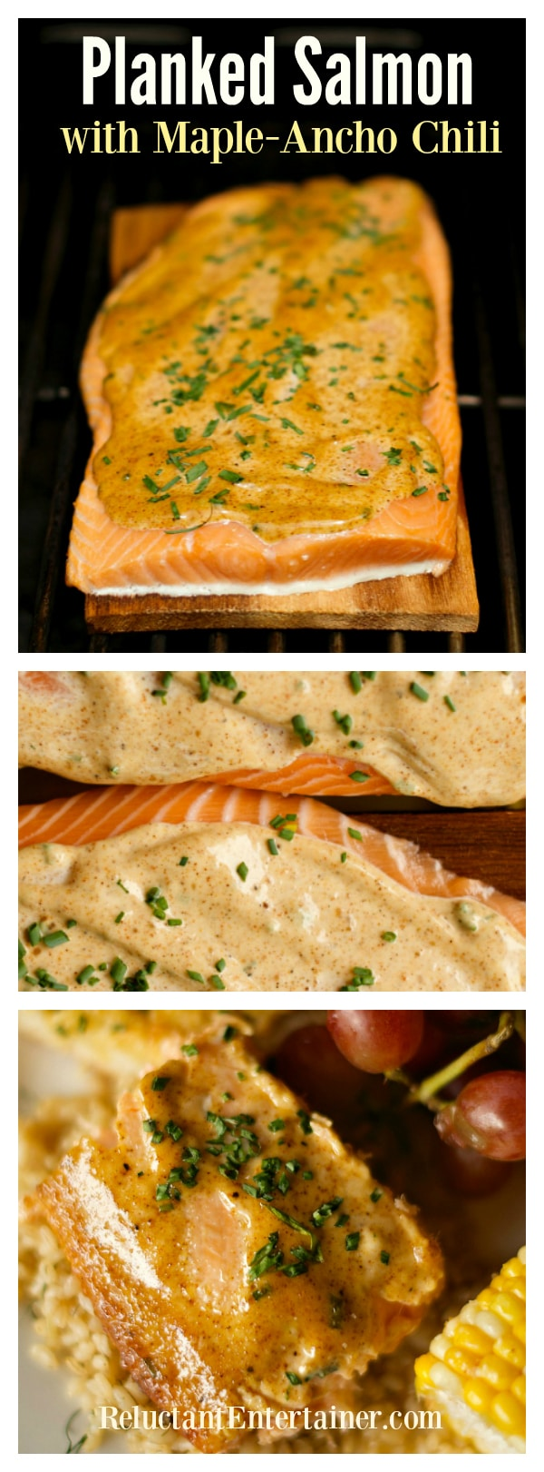 Planked Salmon with Maple-Ancho Chili Recipe
