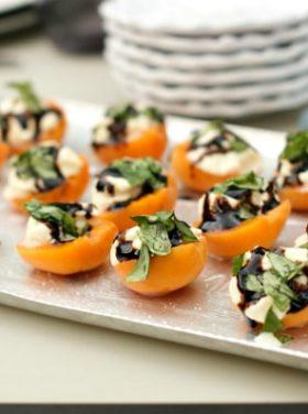 Apricot Ricotta Honey Basil Bites | ReluctantEntertainer.com