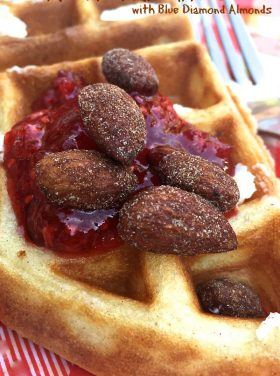 Greek Yogurt Waffles with Blue Diamond Almonds