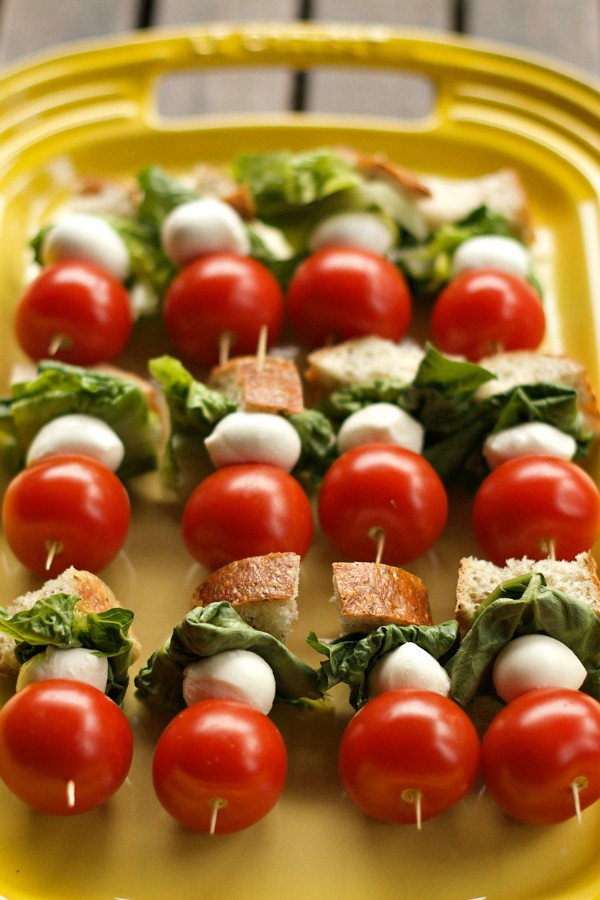 Farmer's Market Shopping Tips with Caprese Salad Skewers