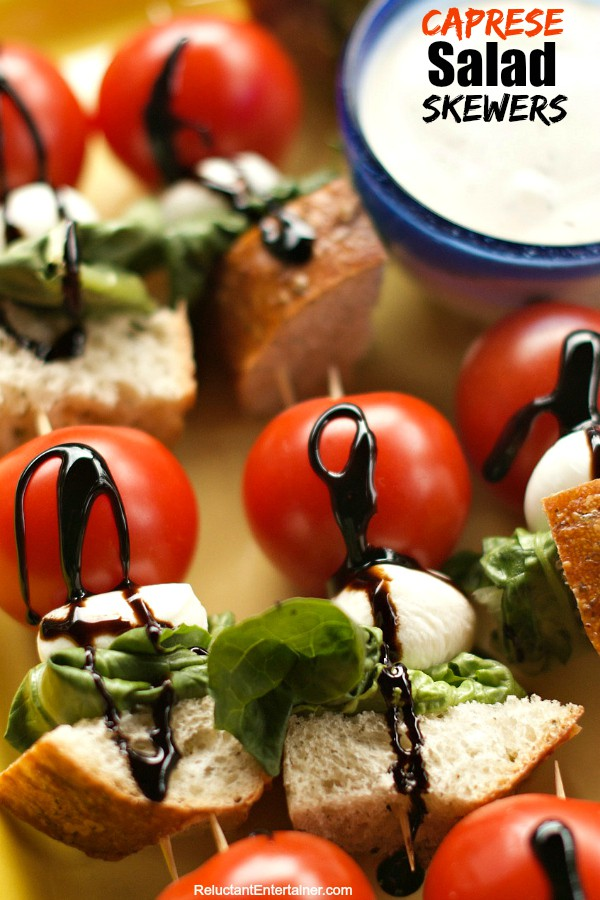 This Caprese Salad Skewers recipe is a light and fresh summertime ...