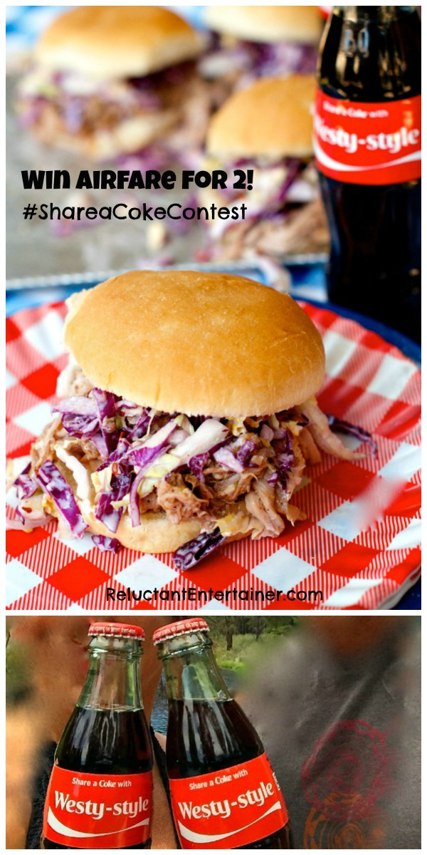 Crock Pot Coca-Cola Pulled Pork Sandwiches + Win Airfare for 2 {$1700 value} #ShareaCokeContest