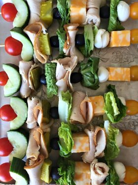 Make-Ahead Turkey Sandwich Kebabs