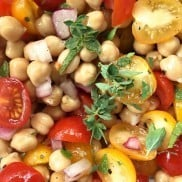Garbanzo Tomato Salad | ReluctantEntertainer.com