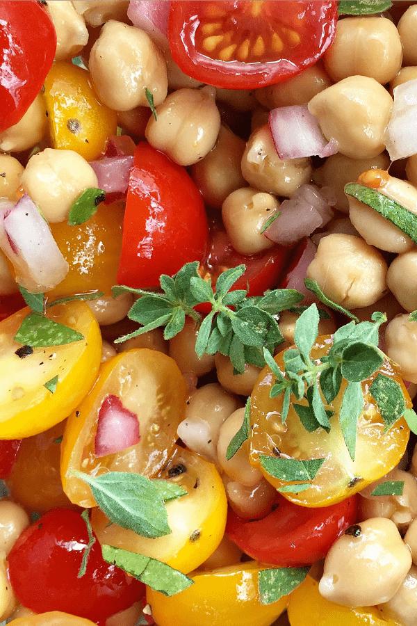 Garbanzo Tomato Salad | ReluctantEntertainer.com