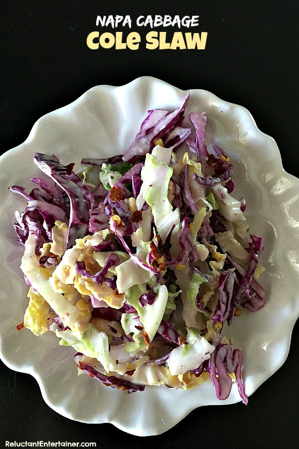 Napa Cabbage Cole Slaw