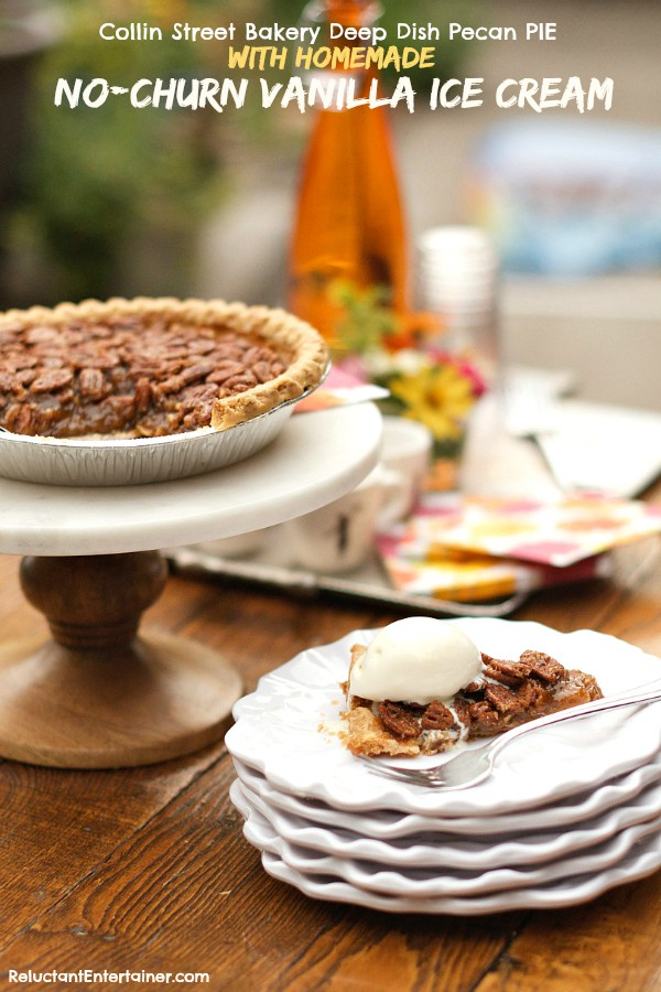 ... Bakery Deep Dish Pecan Pie with Homemade No-Churn Vanilla Ice Cream